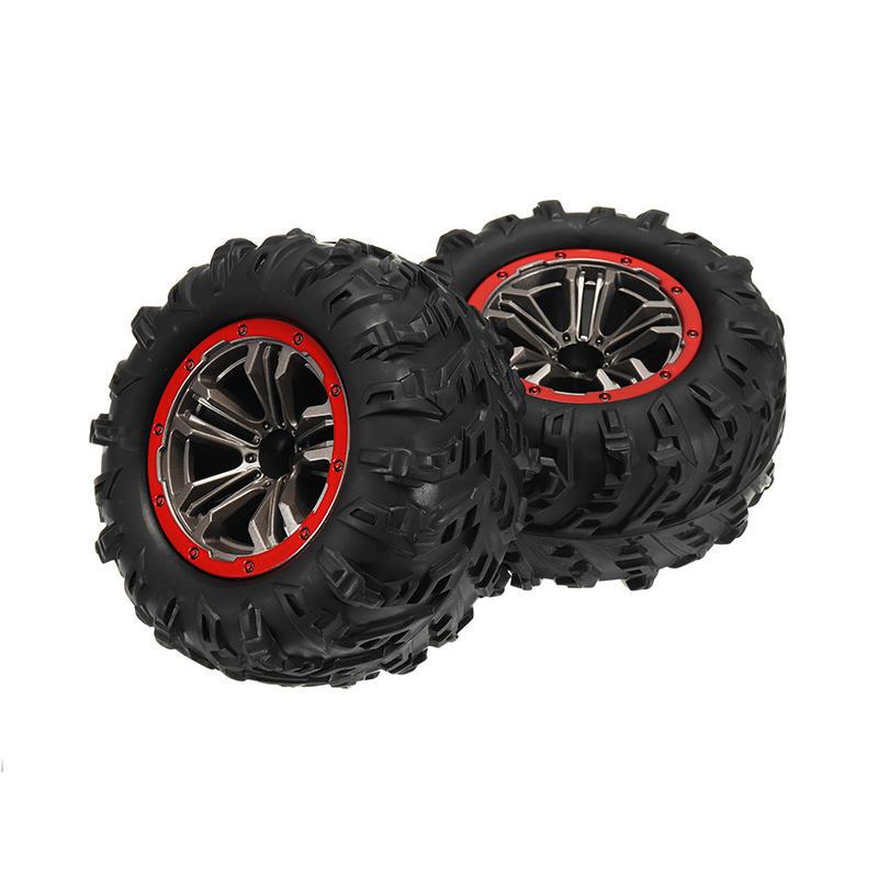 2PCS Hub Wheel Rim & Tires for Xinlehong 9125 1/10 2.4G 4WD RC Car Parts No.25-ZJ02 2PCS