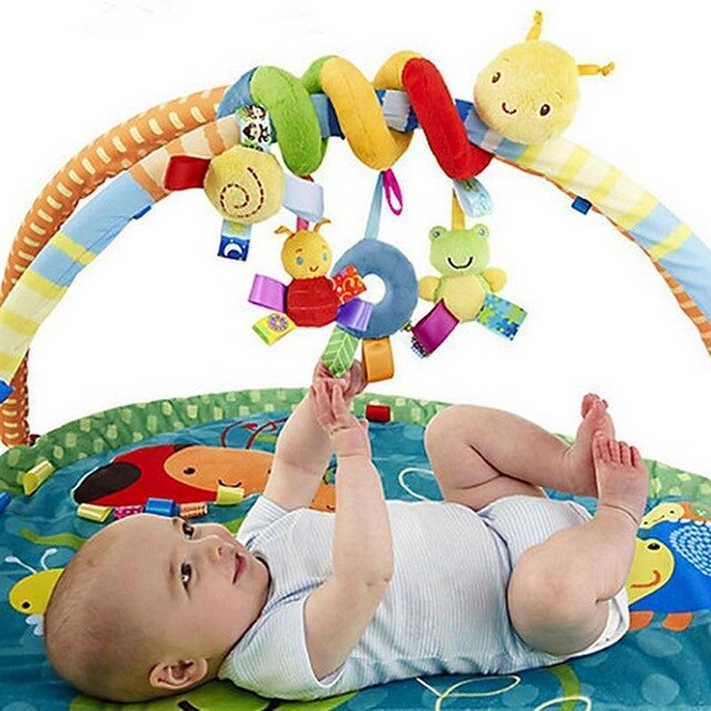 Baby Toy Newborn Music Bed Hanging Pendant Soft Cloth Plush Kid Baby Crib Cot Pram Hanging Rattles Spiral Stroller&Car Seat Toy with Ringing Bell