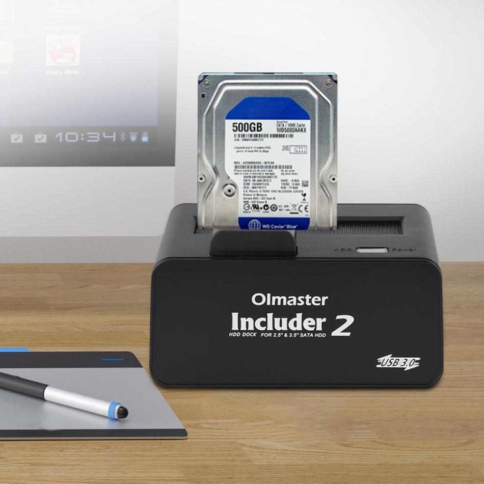OImaster 5Gbps USB 3.0 SATA 2.5 3.5 Inch SSD HDD Hard Enclosure Drive Docking Station  UK plug