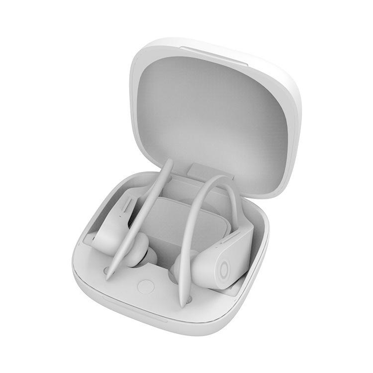 Wireless Headset Bluetooth 5.0 Stereo Waterproof Sweatproof Sports Headphone white
