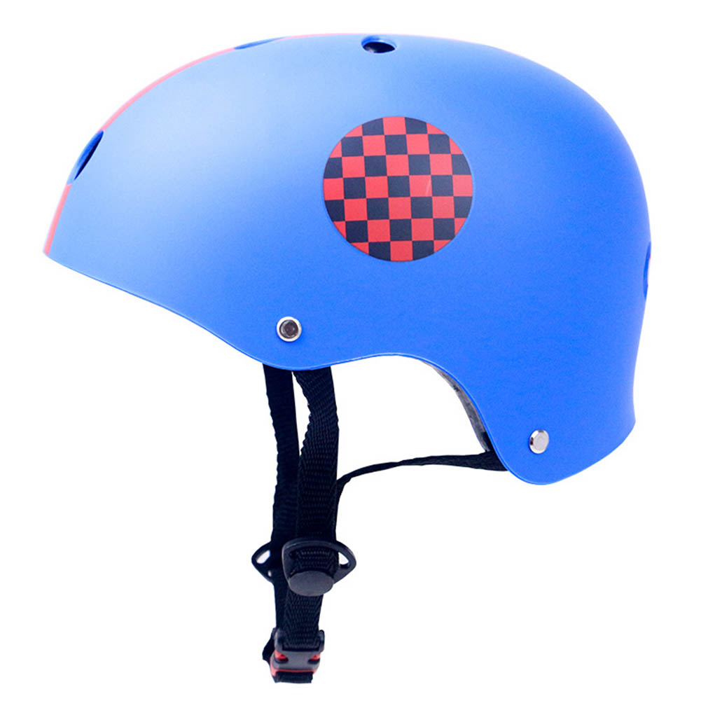 Skate Scooter Helmet Skateboard Skating Bike Crash Protective Safety Universal Cycling Helmet CE Certification Exquisite Applique Style blue_XL