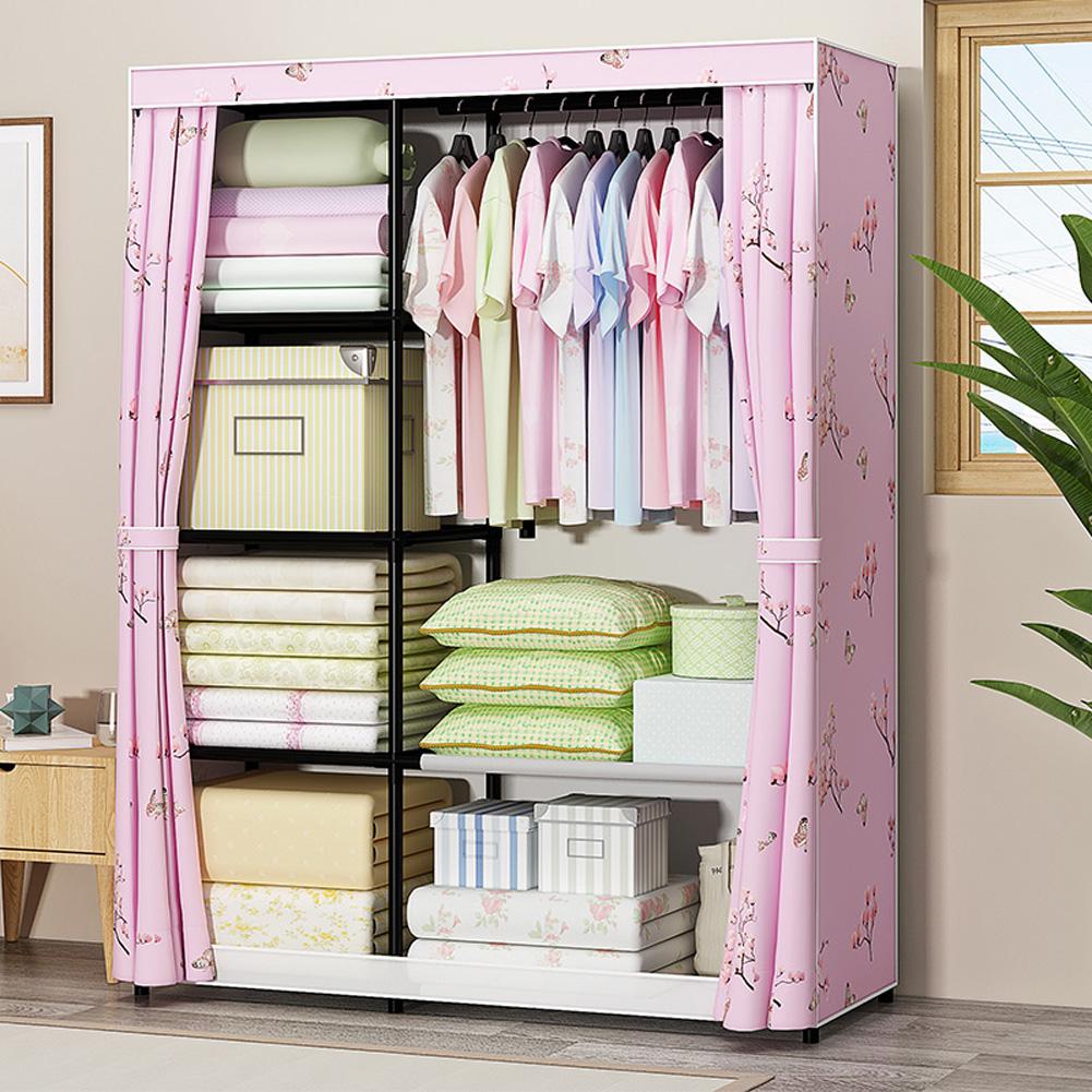 Thicken Oxford Cloth Wardrobe Dustproof Storage Cabinet Closet Bedroom Furniture