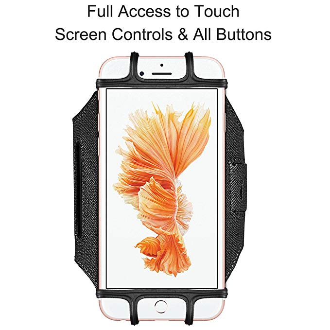 Rotatable Sport Running Armband Phone Arm Band Universal Mobile Phone Cycling Arm Band for iPhone Samsung Xiaomi Handphone  black