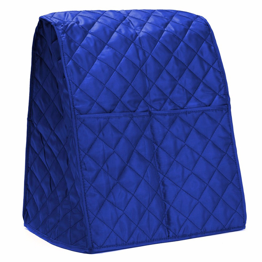Dustproof Waterproof Cloth Quilted Blender Cover Organizer Bag for Kitchen Mixer blue
