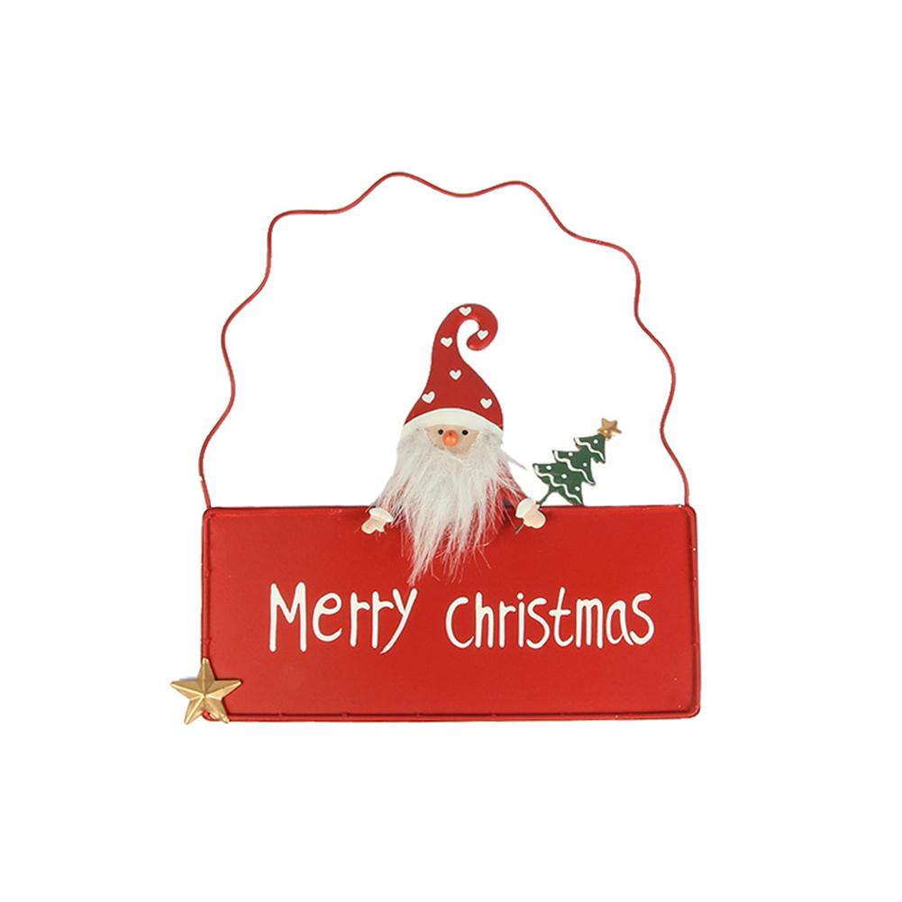 Door  Pendant Christmas Drawf Door Hanger Decorative Sign Ornaments Red