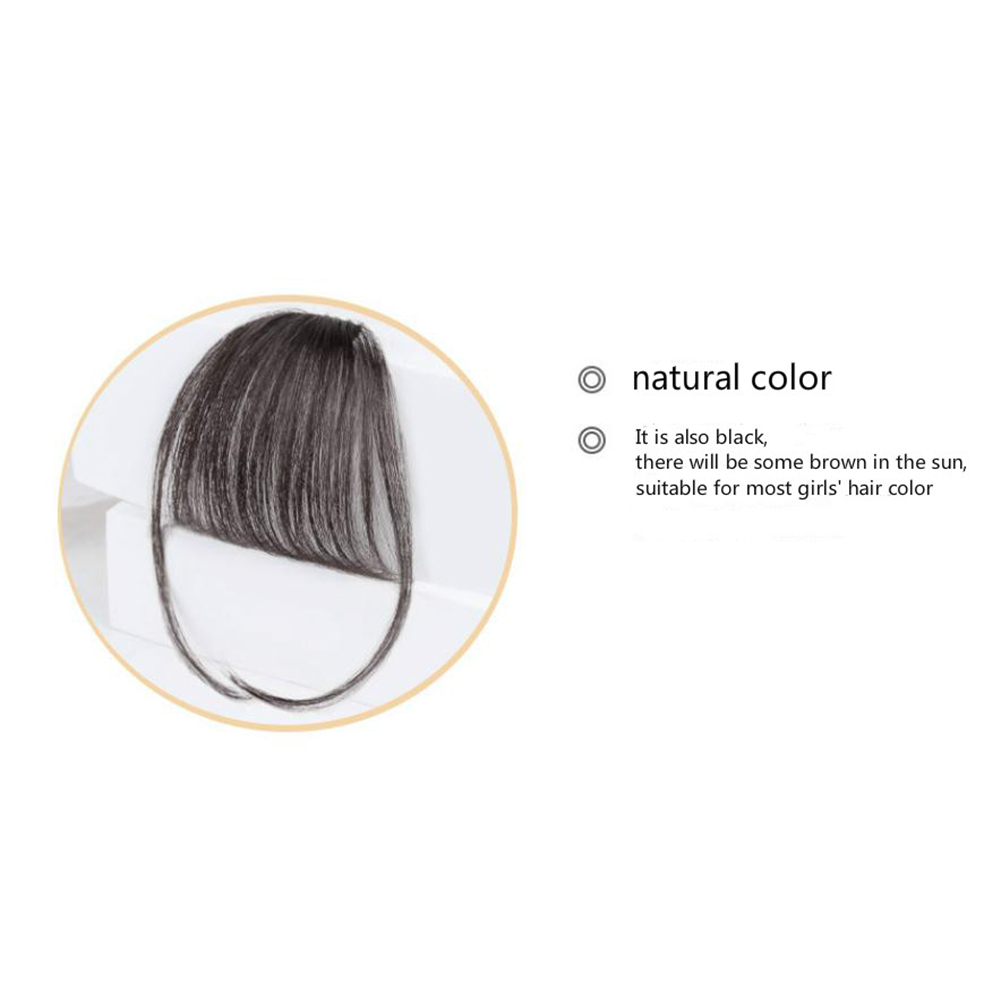 Lady Beauty Clip In Bangs Human Hair Air Bang Brazilian Hair Pieces Invisible Seamless Non-remy Replacement Hair Wig Natural color
