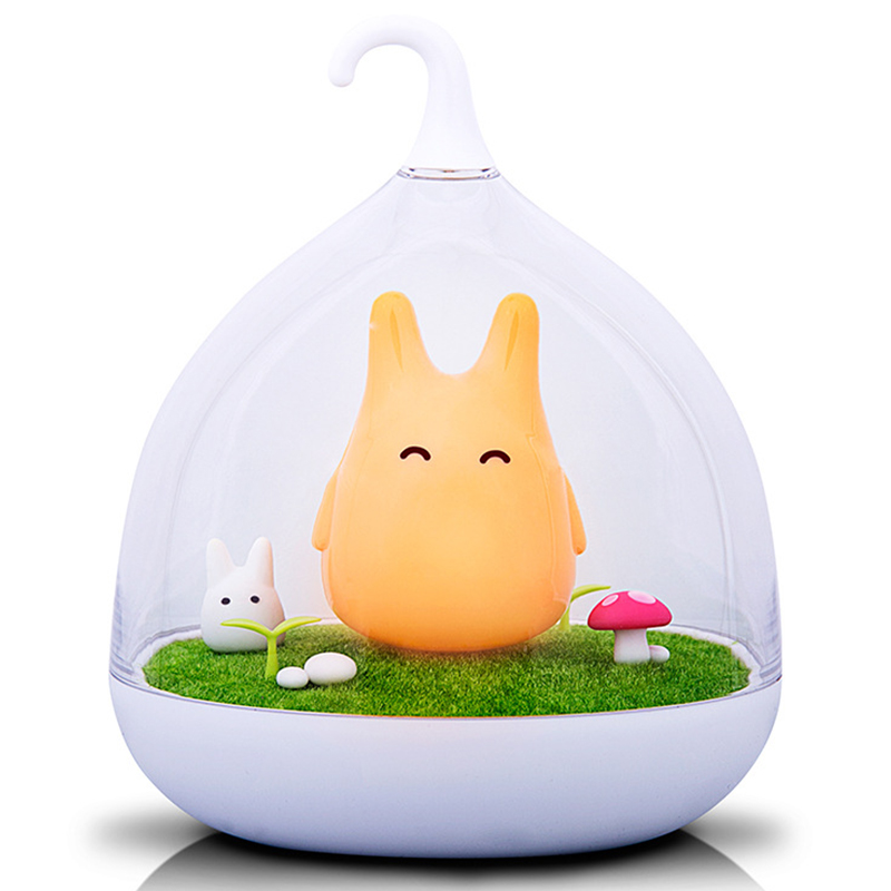 [EU Direct] USB Rechargeable Touch Sensor LED Night Light Portable Dimmable Totoro Night Lamp for Baby Kid Children Orange