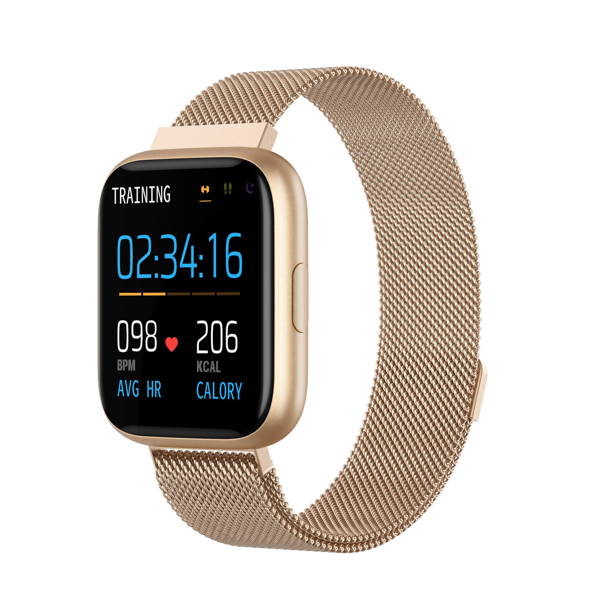 P6 Full Touch Smart Bracelet Heart Rate Blood Pressure Detection Multifunction Exercise Pedometer IP67 Waterproof Fashion Watch 6#