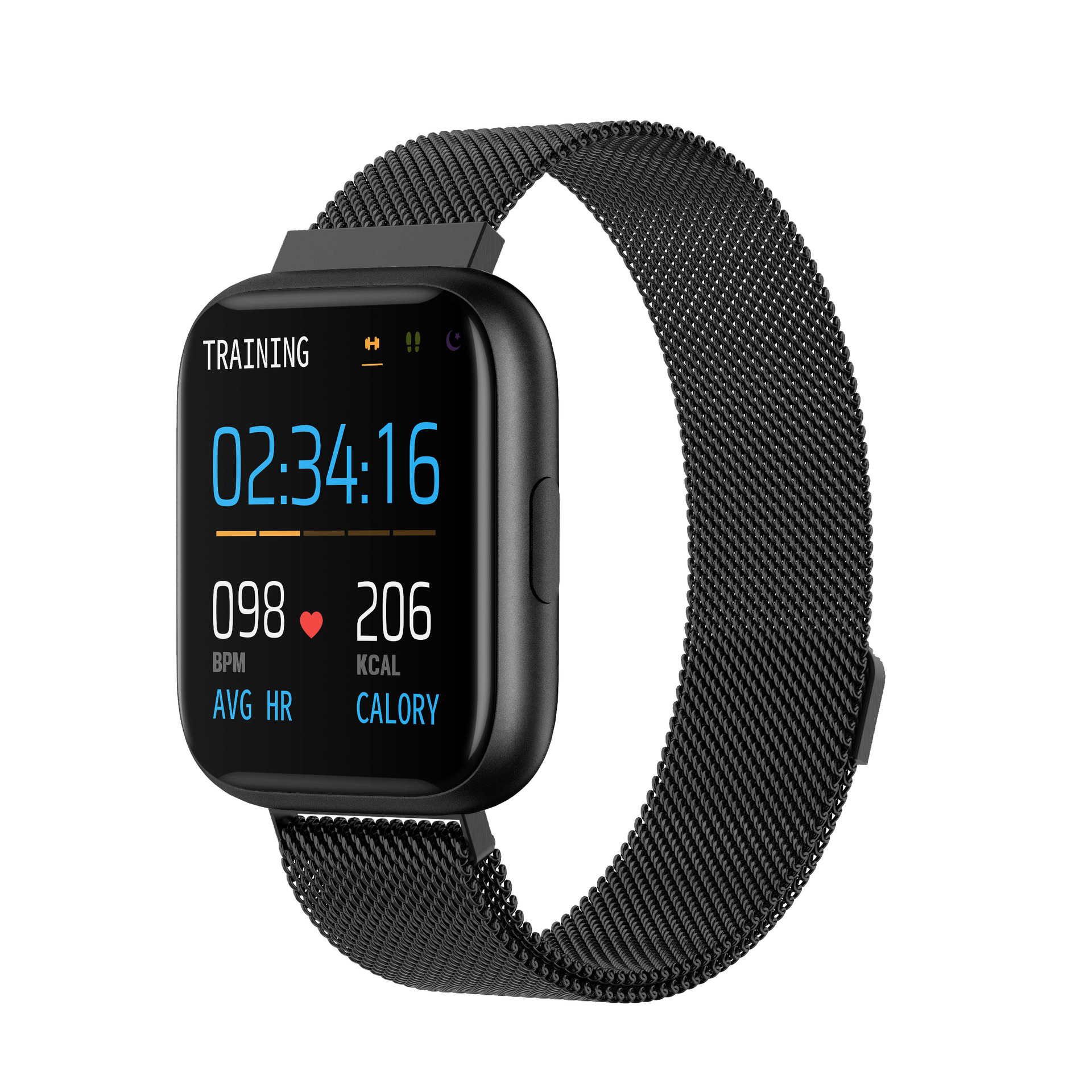 P6 Full Touch Smart Bracelet Heart Rate Blood Pressure Detection Multifunction Exercise Pedometer IP67 Waterproof Fashion Watch 5#