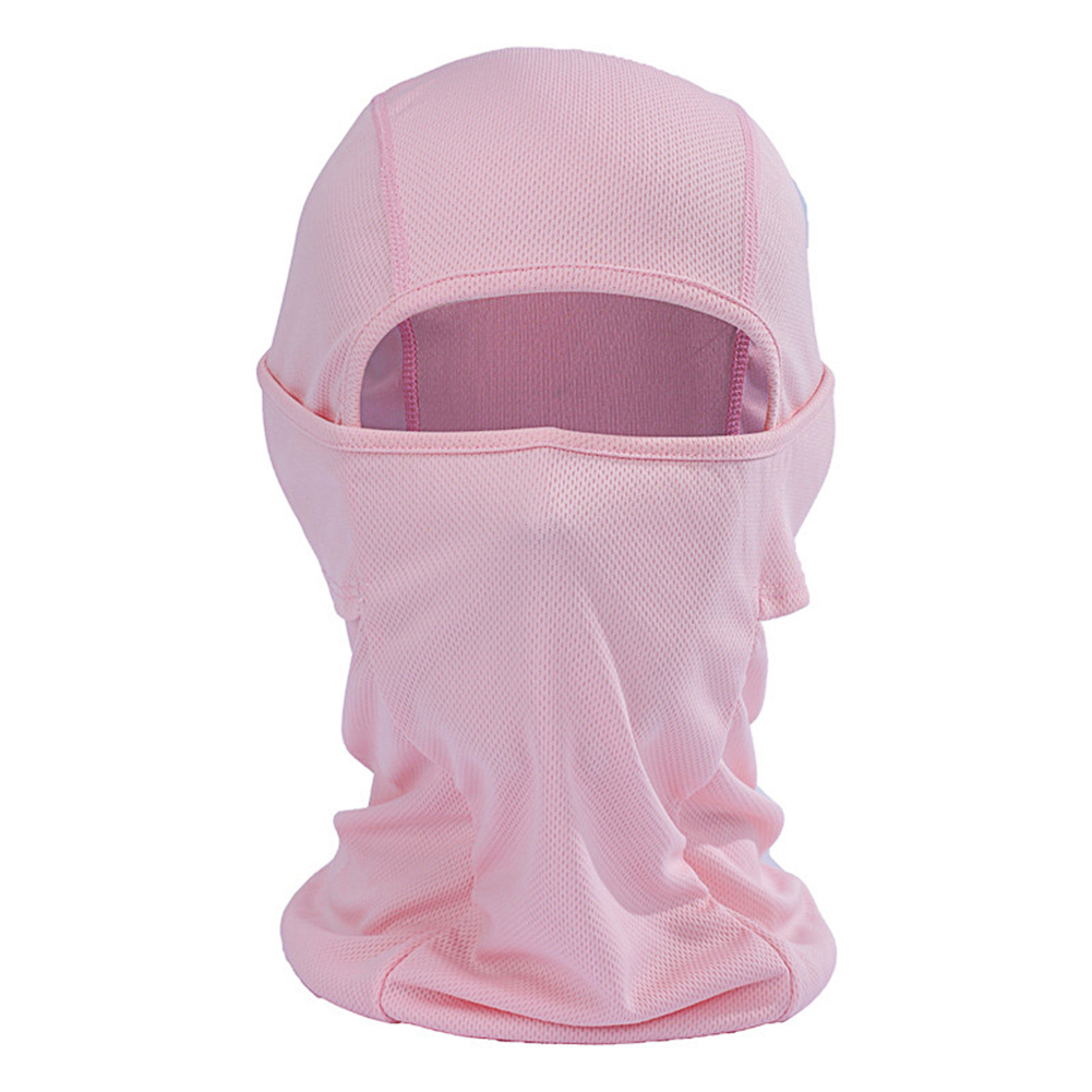 Outdoor Cycling Balaclava Full Face Mask Bicycle Ski Bike Ride Snowboard Sport Headgear Pink_One size