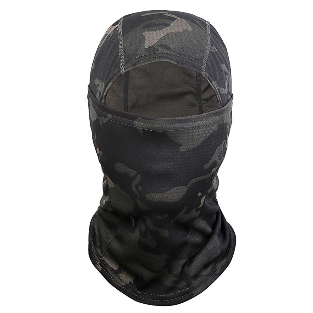 Outdoor Cycling Balaclava Full Face Mask Bicycle Ski Bike Ride Snowboard Sport Headgear Black terrain camouflage_One size