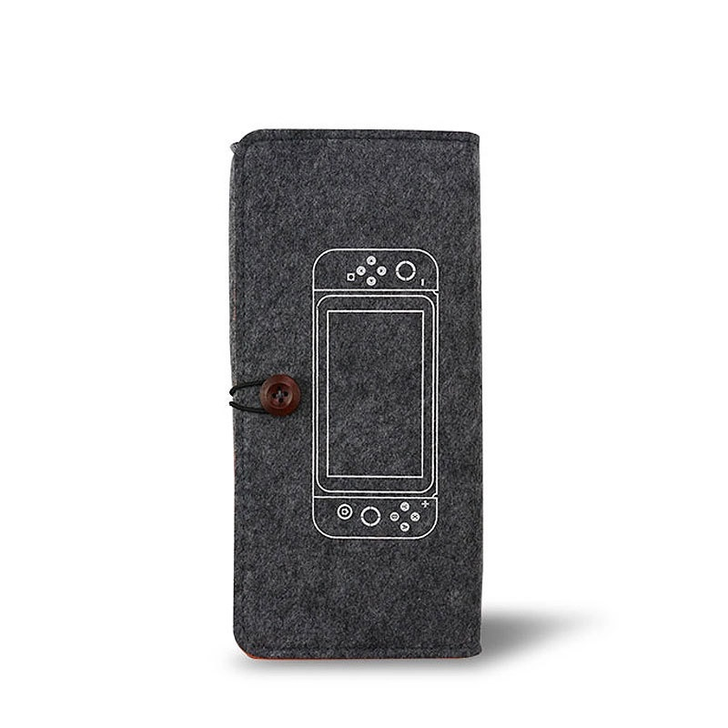 Felt Pouch Protection Storage Bag Portable Soft Bag For Switch Lite Host Protection Storage  Bag Dark gray