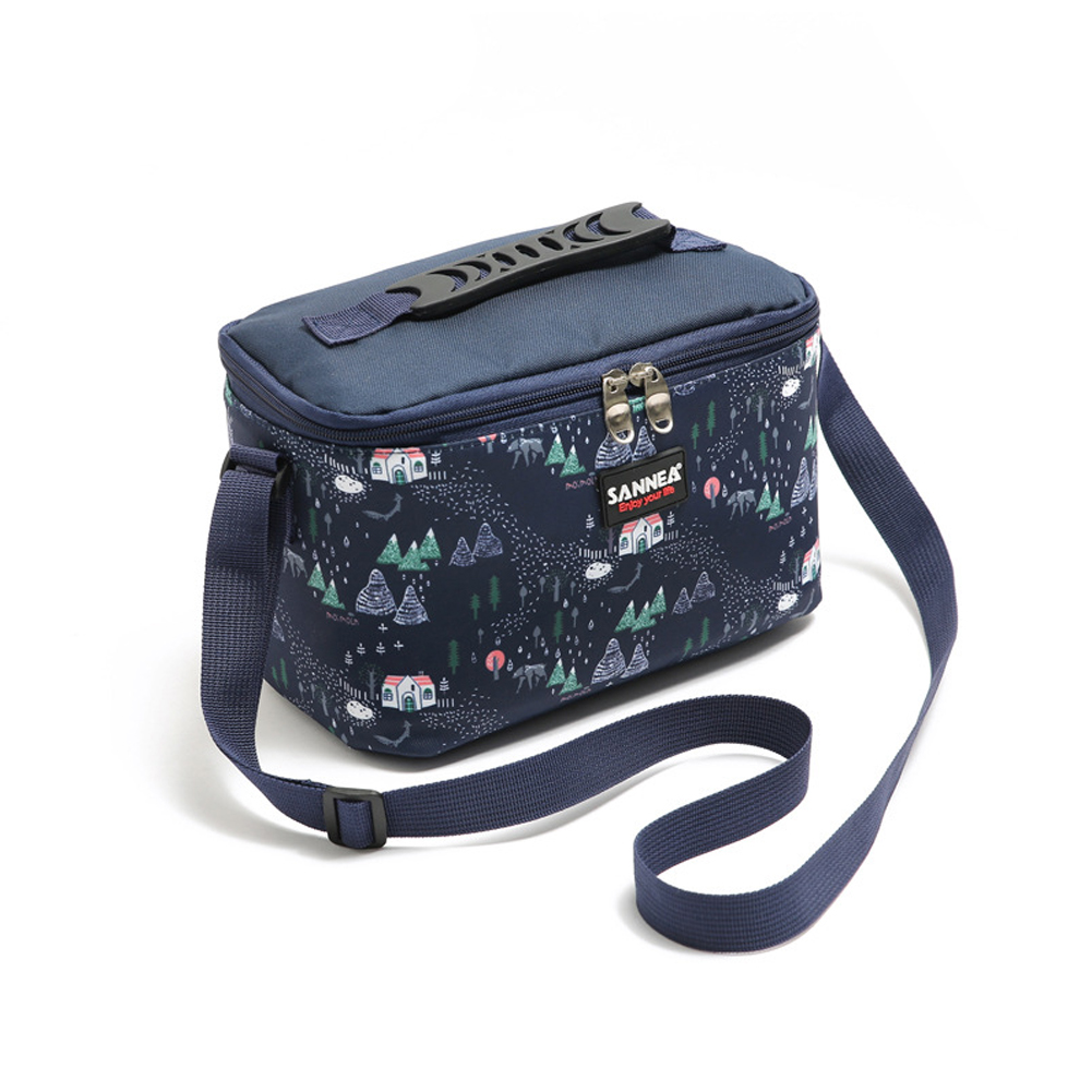 4.8L Cooler Bag Thermal Portable Waterproof Insulated Thermal Bag Cooler Picnic Lunch Bag Blue