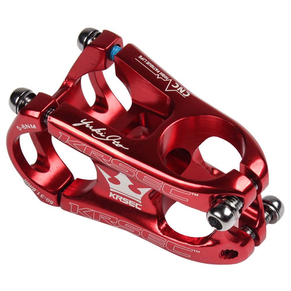 Bike Stem 31.8 mm Aluminium Alloy Downhill Bicycle Stem MTB Cross Country XC Bike Accessories Full red 50MM