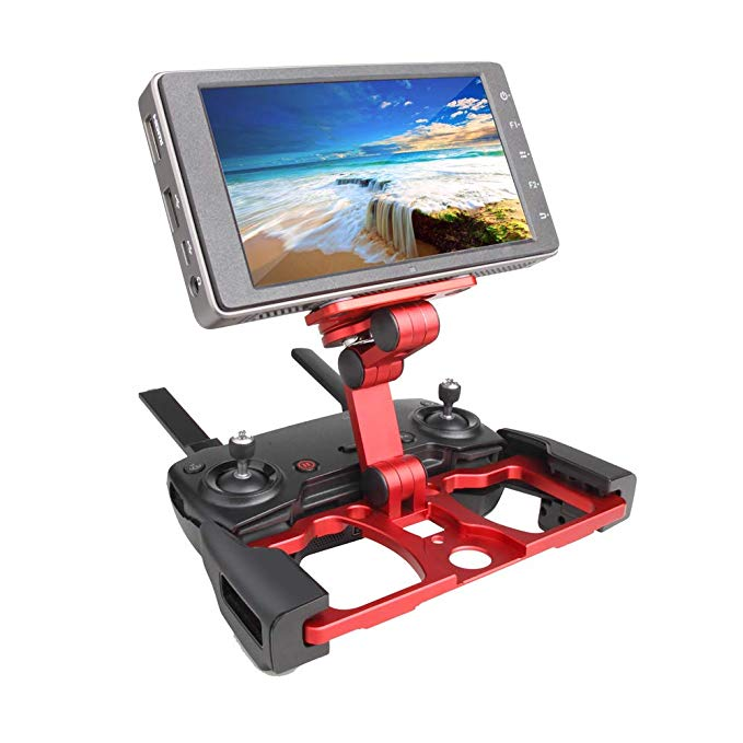 Aluminum Foldable Tablet and Phone Stand Holder with Lanyard Support for Mavic Air/Mavic Pro/DJI Spark Metal Phone Holder Accessories red