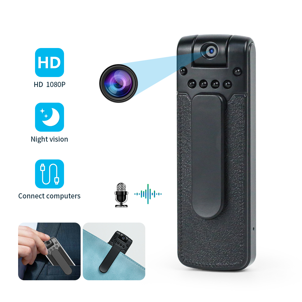 Wifi Hd 1080p Infrared Night Vision Low Power Consumption Sports Camera black