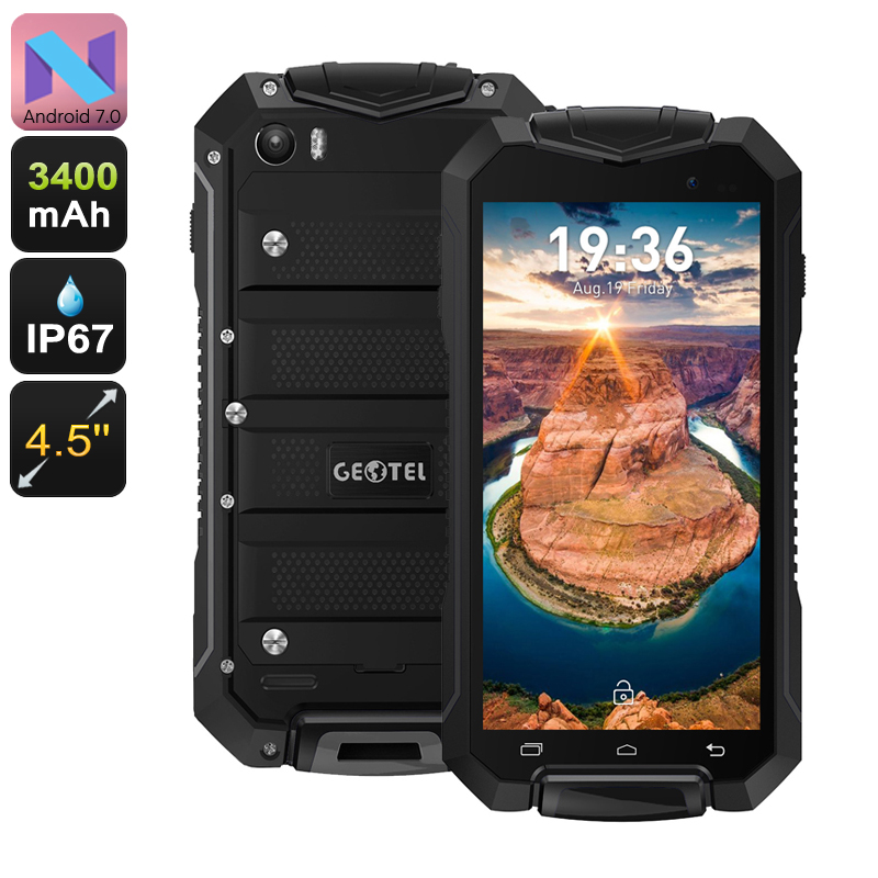 Geotel A1 Rugged Android 7 Smartphone (Black)