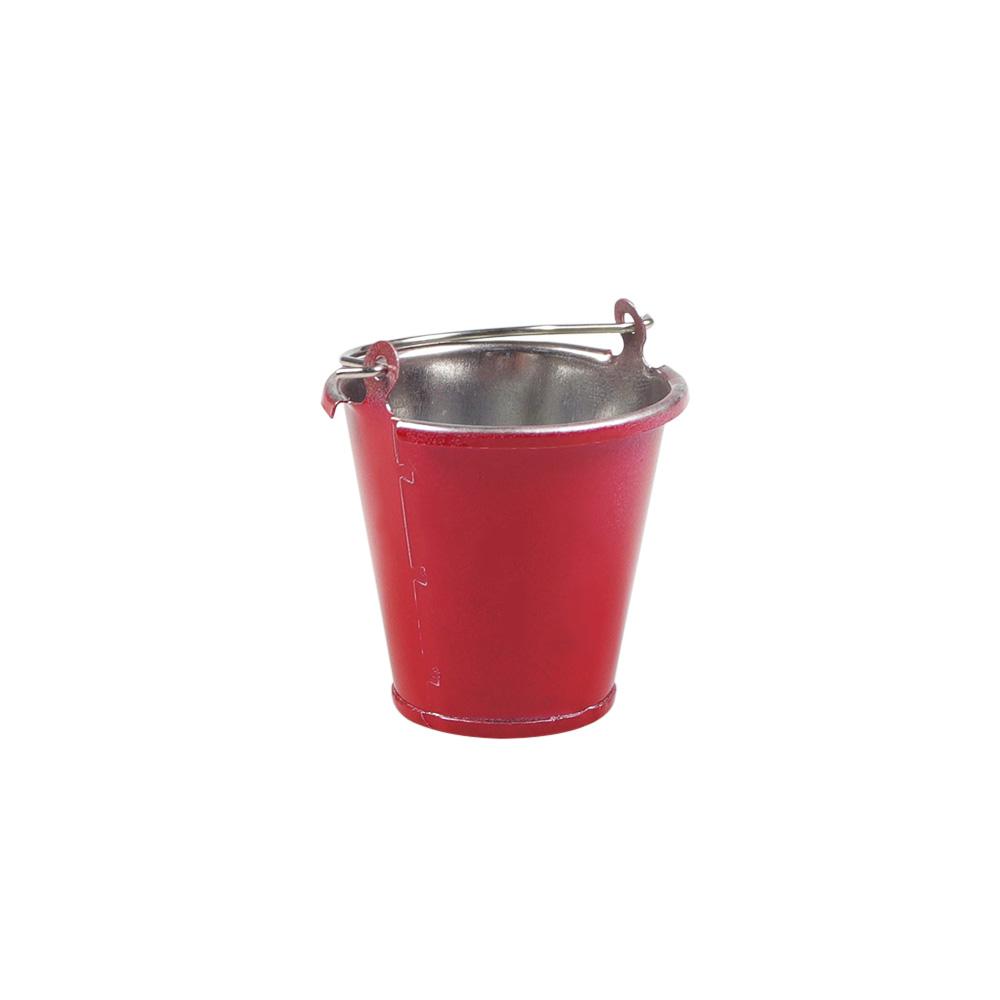 1/10 Simulation Decoration Metal Bucket For Tamiya Cc01 Axial Scx10 Rc4wd D90 Tf2 Traxxas Trx-4 Trx4 1/10 Rc Crawler red