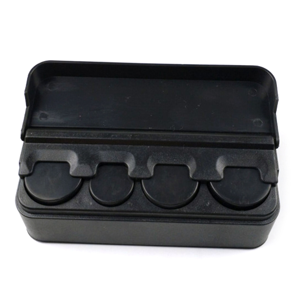 Black Plastic Car Coin Organizer Case