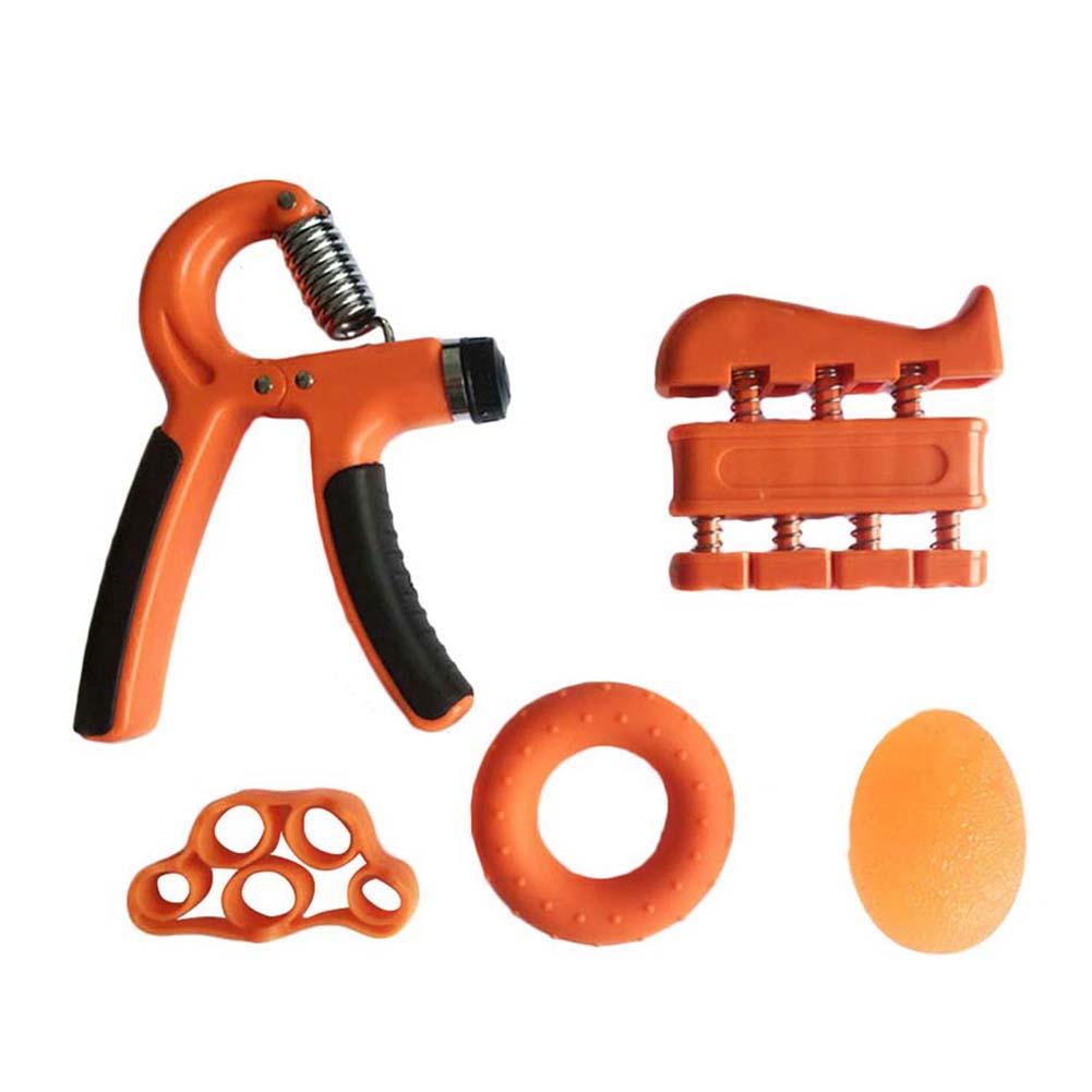 Adjustable Grip Device Set Grip Ball Five-finger Training Device Finger Force Device Fitness Orange