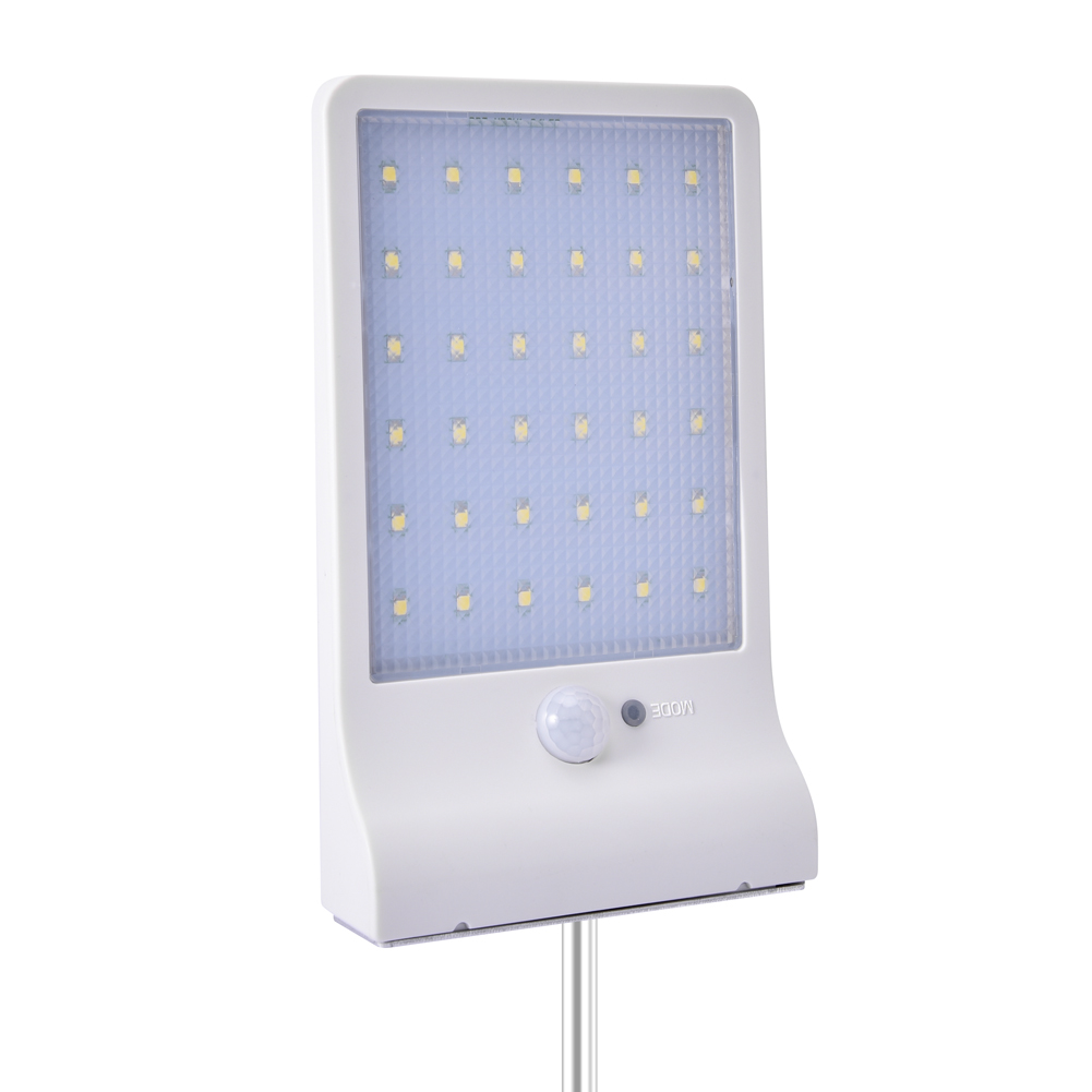 36LEDs Solar Powered Human Body Induction Wall Light for Outdoor white_(ME0006303)