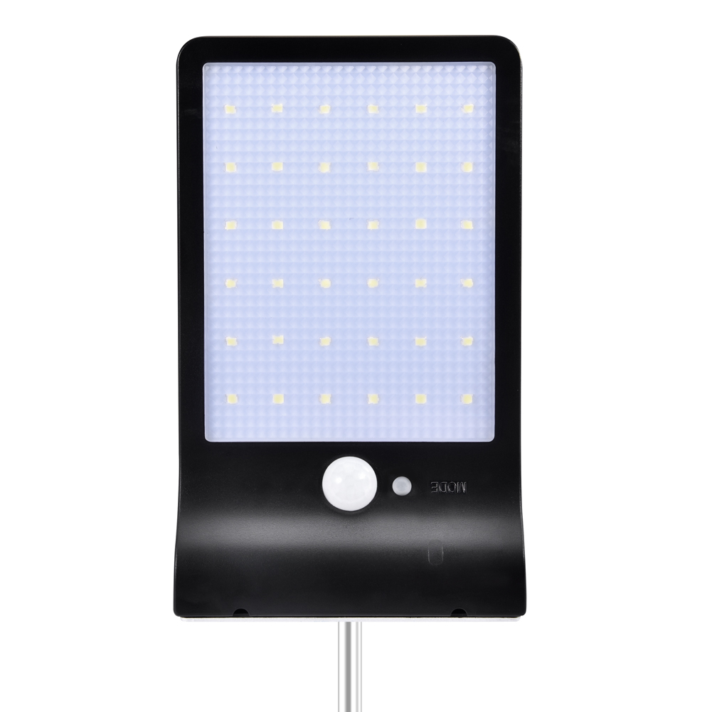 36LEDs Solar Powered Human Body Induction Wall Light for Outdoor black_(ME0006304)