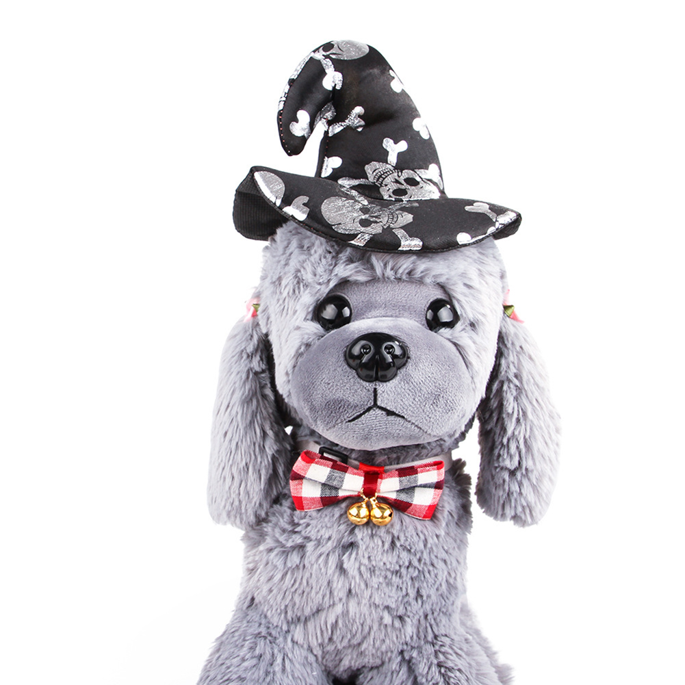 Funny Headgear Hat Cosplay Prop for Halloween Cats Dogs Wear black_One size