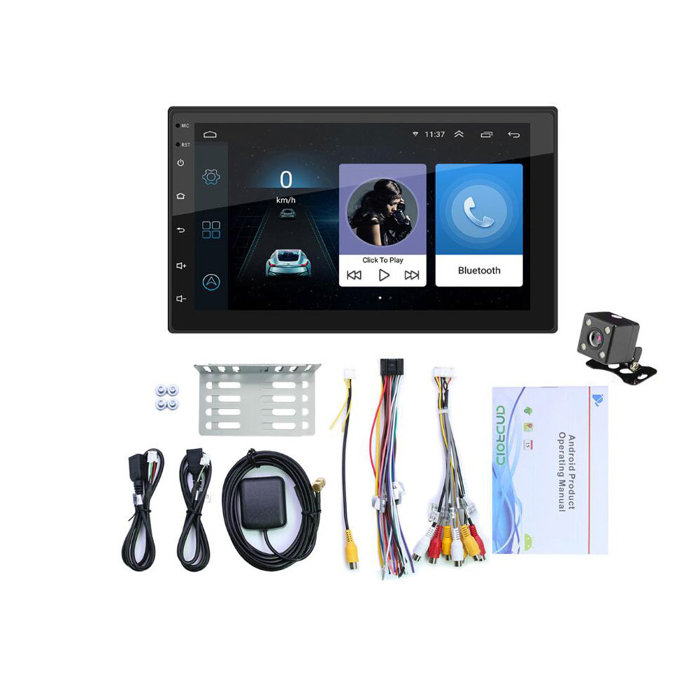 9210S Android 10.1 Car Radio Multimedia Video Player 7 inch Screen Auto Stereo Double 2 DIN WiFi GPS Head Unit Car Stereo black