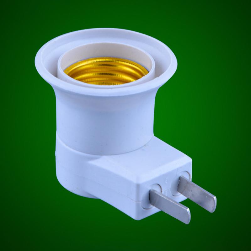 85-265V E27 Lamp Holder US Plug Light Base Bulb Adapter with ON/OFF Switch white