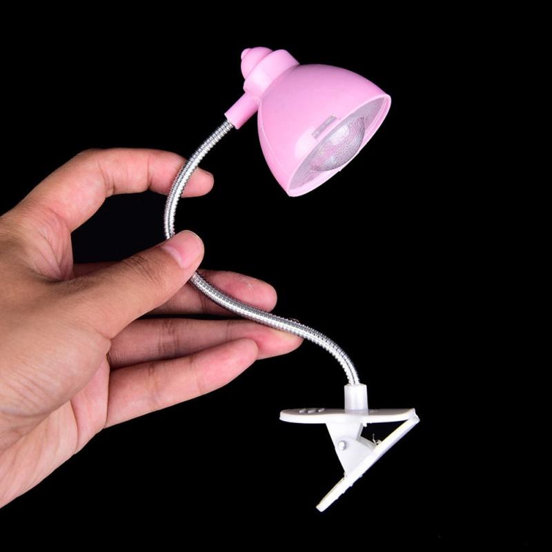 Adjustable Clip On Book Reading Light Eye Protection Mini LED Bedside Table Lamp Pink_5 * 4.5 * 18CM