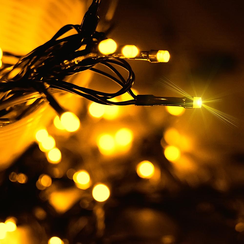 12M/22M 100LEDs/200LEDs Solar Power String Lamp Garden Party Decor Warm White_22 meters 200LED_(ME0003602)