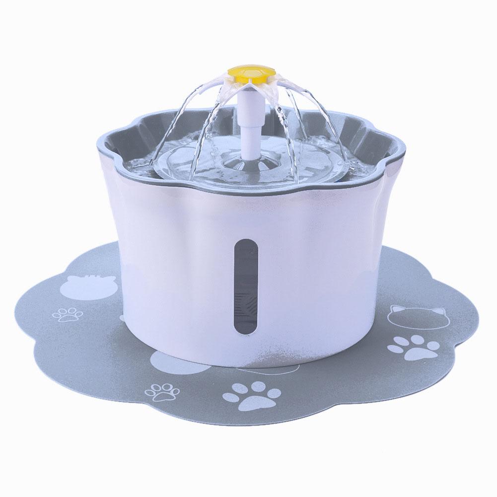 Pet's Water Dispenser 2.6L Ultra-quiet Household Pet Water Dispenser gray