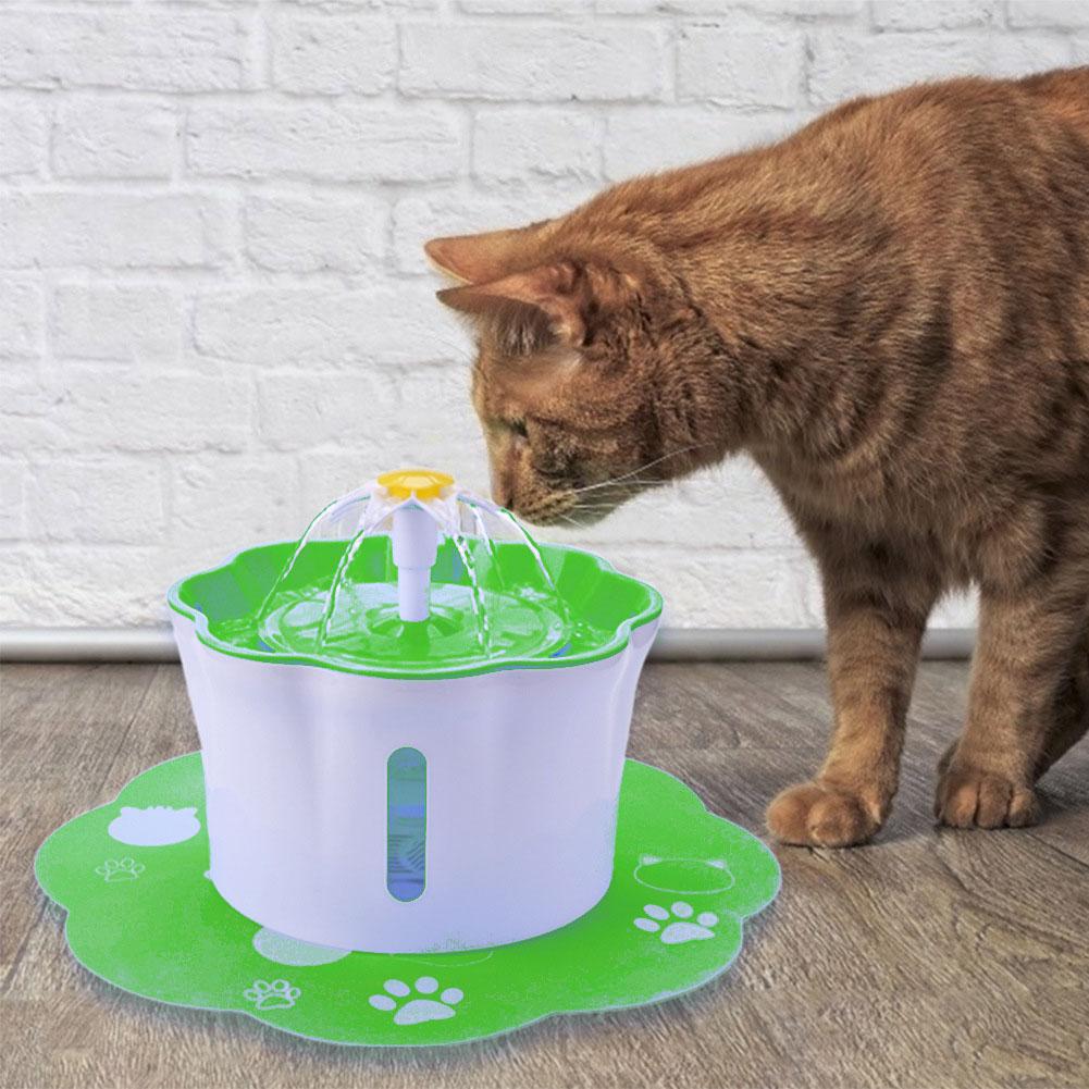 Pet's Water Dispenser 2.6L Ultra-quiet Household Pet Water Dispenser green