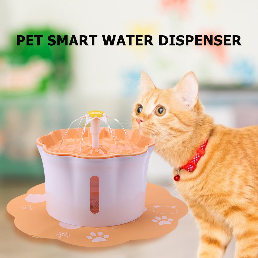 Pet's Water Dispenser 2.6L Ultra-quiet Household Pet Water Dispenser Orange
