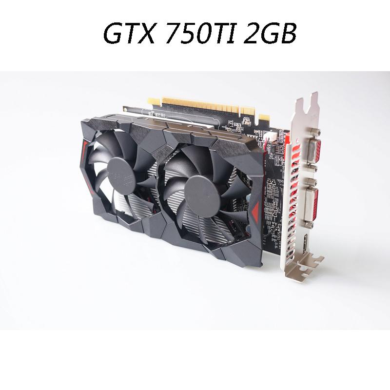 GTX750Ti 2GB DDR5 Graphics Card 4096*2160 60W Air Cooling Graphics Card GTX750TI 2GB