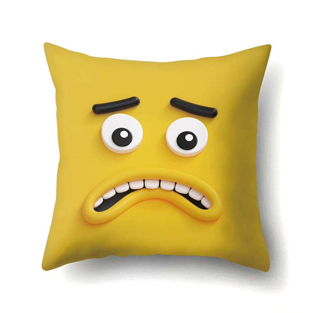 Cute Emoji Pattern Cushion Cover Pillow Case for Car Home Sofa Decor 45*45cm CCA426(4)