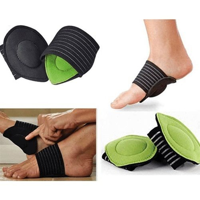 Universal Feet Arch Support Breathable Cotton Foot Protection Pads for Aching and Painful Feet, One Size Green_General purpose (a pair)