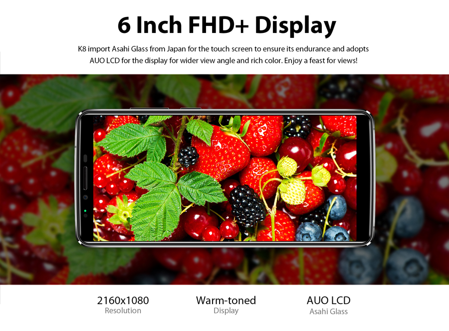 OUKITEL K8 6 Inch Android 8.0 6.0