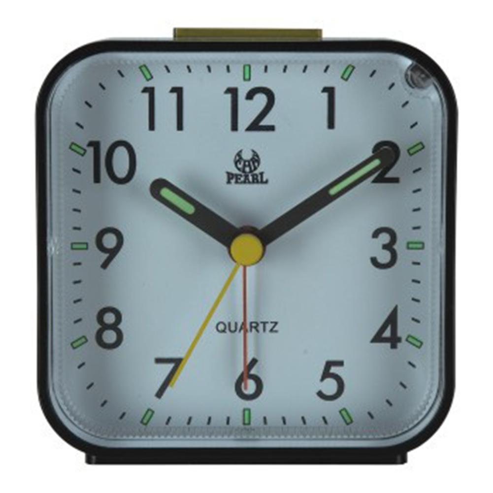 Portable Silent Noctilucence Alarm Clock with Night Light Snooze Function for Kids Table Desktop Beside black