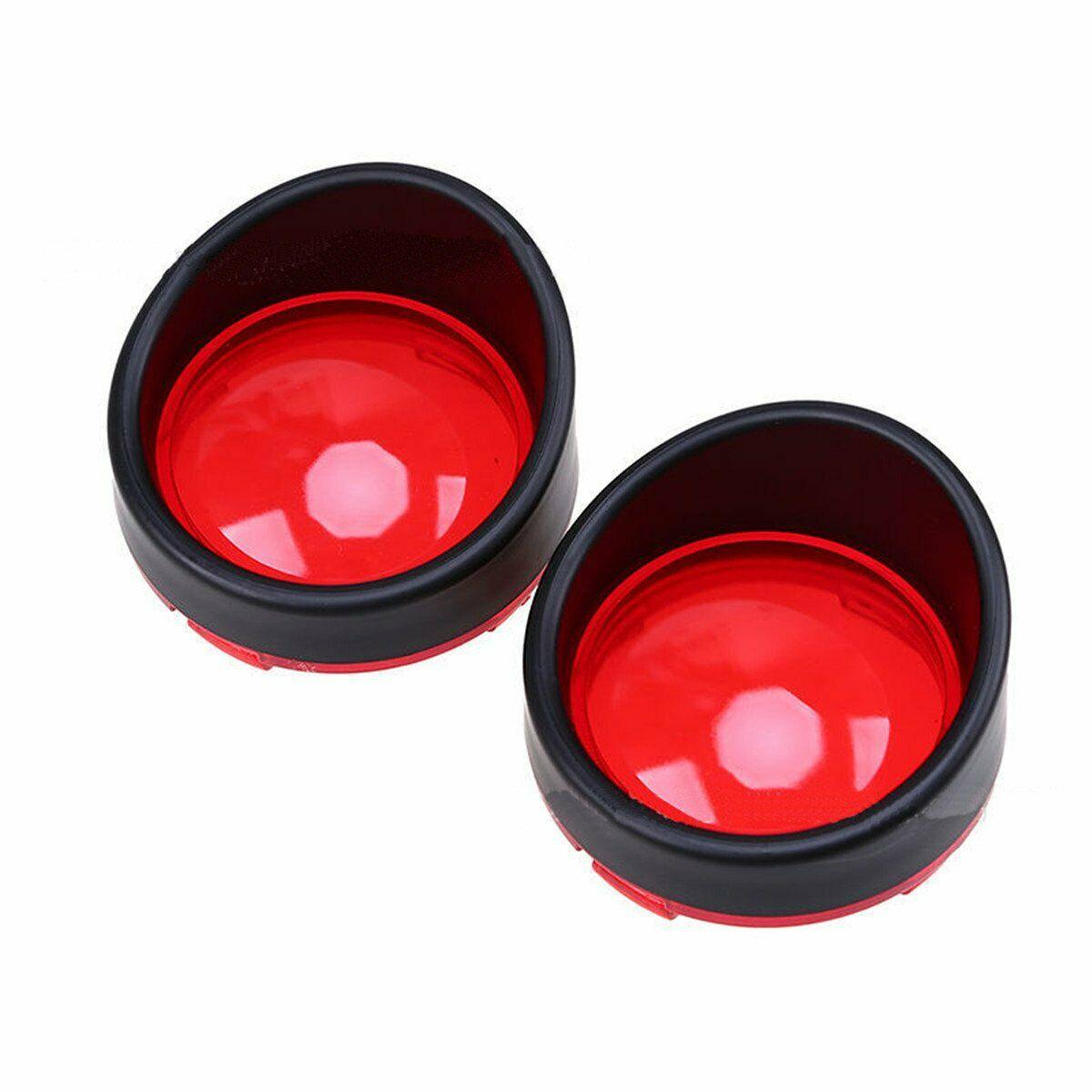 1pair Chrome Visor-Style Turn Signal Light Bezels 4 colors Lens for Harley Davidson Plating