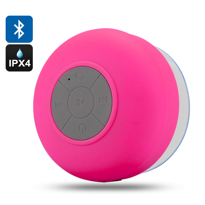 Bluetooth Shower Speaker 'AquaSound' (Red)
