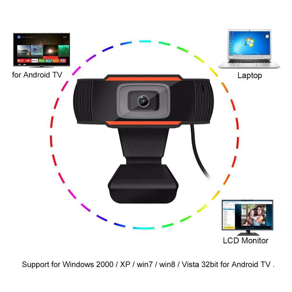 USB 2.0 HD Webcam 720P Drive Free Autofocus Video Recording Web Camera 720P