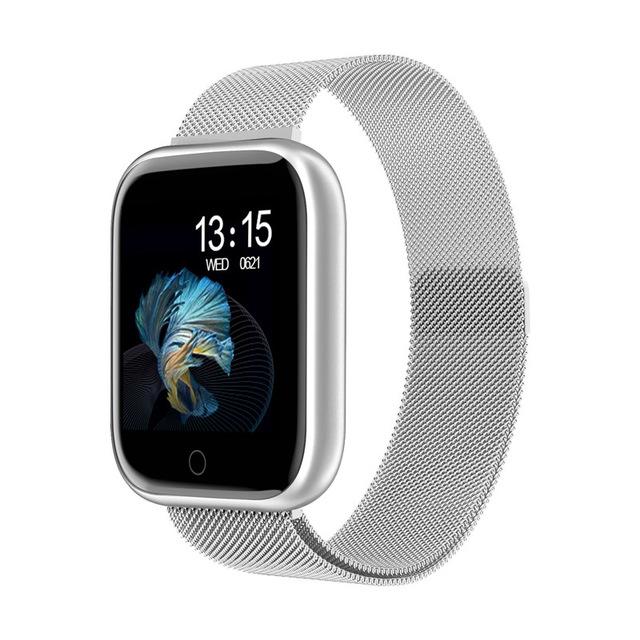 Fashion T80 Smart Watch Women Men Sports Waterproof Bracelet Silver