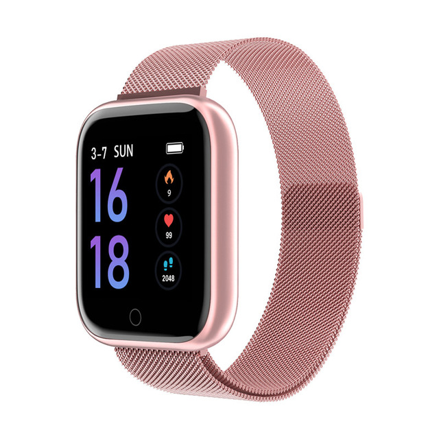 Fashion T80 Smart Watch Women Men Sports Waterproof Bracelet Rose gold