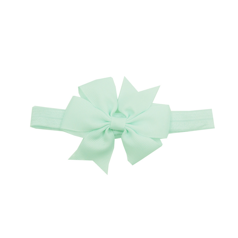 Infant Baby Girls Rib Headbands and Forked Tail Bowknot Elastic Hair Band