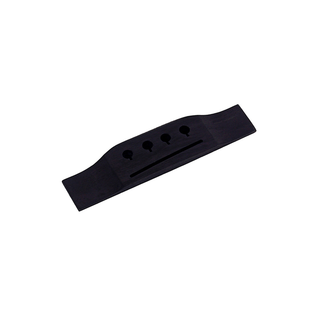 Durable 4-String Angle Sloted Ebony Guitar Bridge For Acoustic Electric Guitar black