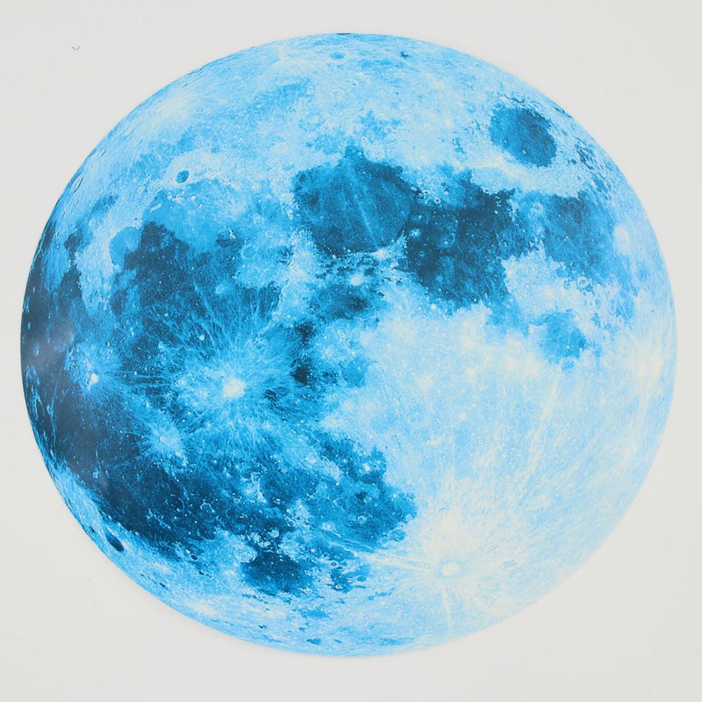 30cm Blue Moon 435pcs Blue Luminous Moon Star Sticker 166pcs Star Decal Decoration 30cm blue moon
