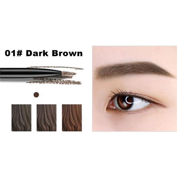 Fine Sketch Double Head Liquid Eyebrow Pen Waterproof Tattoo Eye Brow Pencil  01 dark brown