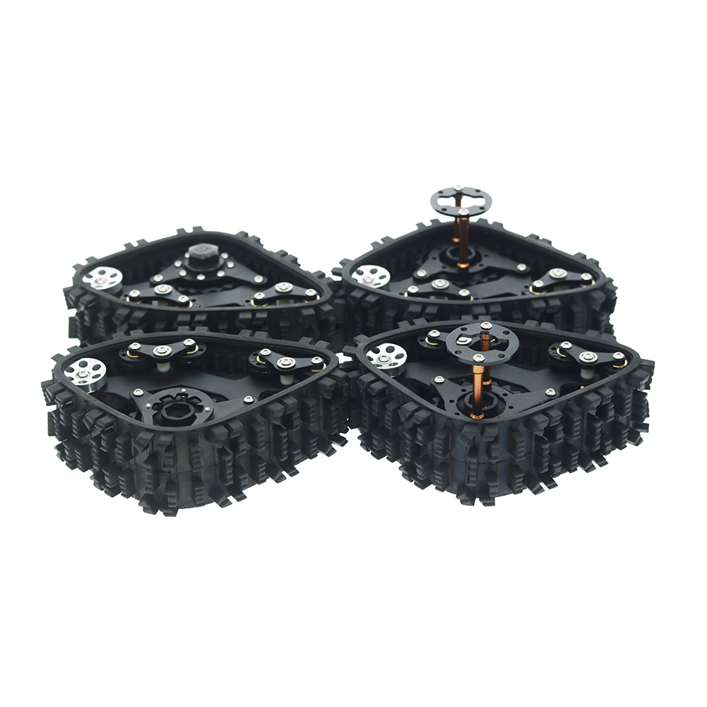 4PCS Tracks Wheel Sandmobile Conversion Snow Tire for Axial SCX10 I II AX90016 90027 90035 90036 90037 1/10 RC Crawler Car 4pcs
