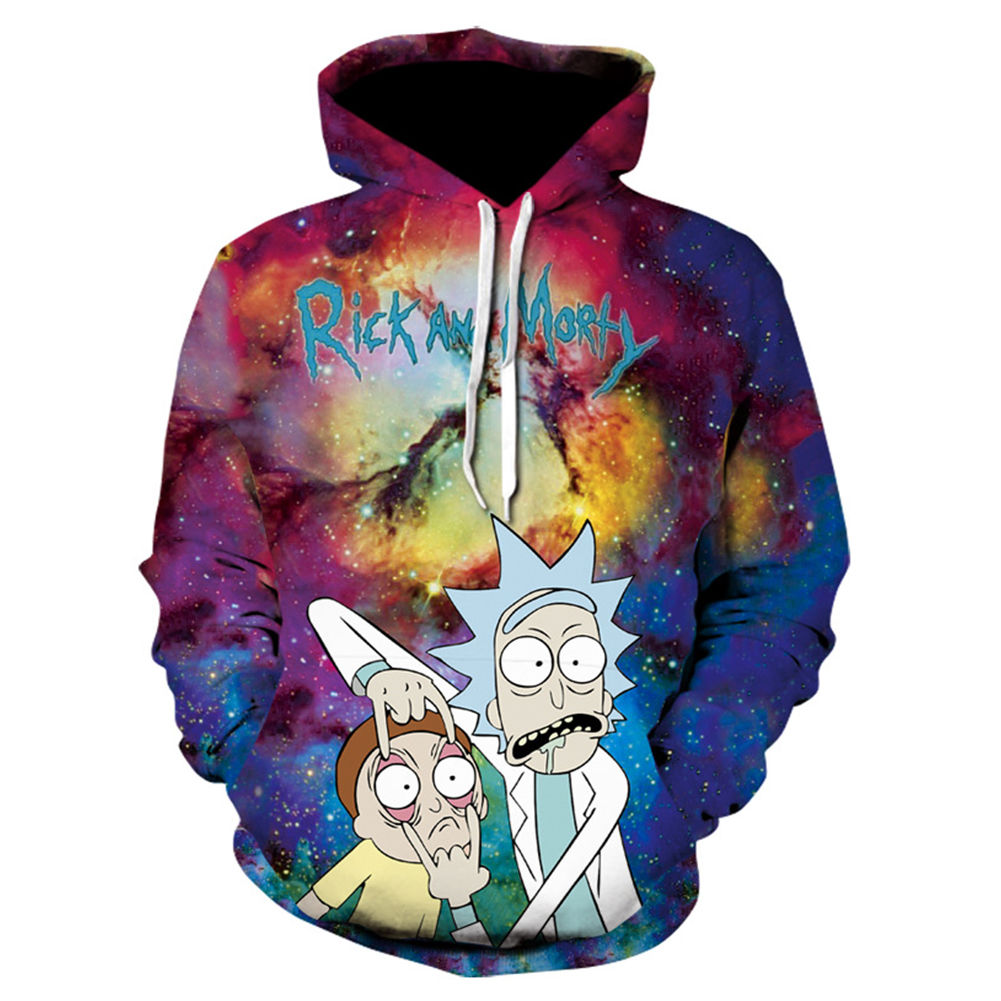 Fashion Unisex 3D Printed Casual Loose Hoodies  as shown_L